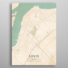 Levis Canada by Designer Map Art Poster Prints, Art Prints, Posters, Map Art, Print Artist, Vintage Metal, Cool Artwork, Maps, Poster