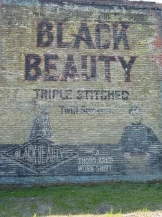 Black Beauty ghost sign, Detroit