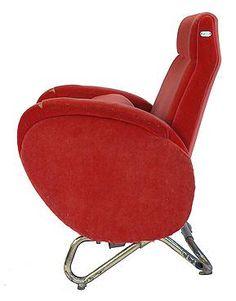 Carlo Mollino Cinema Armchair from the RAI Auditorium in Turin Metal Patio Chairs, Cinema Chairs, Rolling Chair, Round Sofa, Stool Chair, Mid Century Chair, Wing Chair, Take A Seat, Mid Century Modern Design