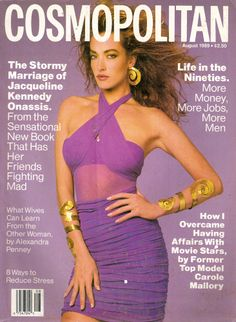 Cover with Tatjana Patitz August 1989 of US based magazine Cosmopolitan USA from Hearst Corporation including details. Fashion Cover, 80s Fashion, Fashion Models, Fasion, Tatjana Patitz, V Magazine, Magazine Covers, Vogue, Vanity Fair