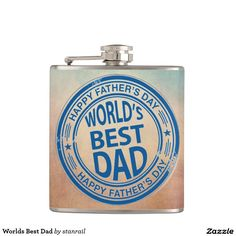 Worlds Best Dad Flasks;  $26.95 - #stanrail --  Customize this 6 oz. Liquid Courage™ stainless steel flask for a fun and hip on-the-go accessory. Your text, photos or designs are professionally printed in vibrant color on high quality vinyl and permanently wrapped around the flask. The Liquid Courage™ flask is a great gift for Father's Day, birthdays, and special events!   @stanrails_store