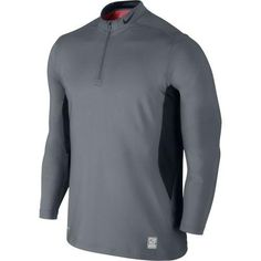 78ac0817 NIKE PRO COMBAT HYPERWARM DRI-FIT MAX MEN'S GREY 1/4 ZIP SHIRT Sz S,  #543596-065