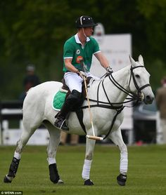 Last year Prince Harry and his brother William competed on opposing teams at the match