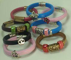 Licorice (Oval 10X6 mm) leather cord bracelet