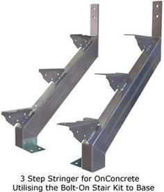 Steel stairs with concrete treads - metal designs