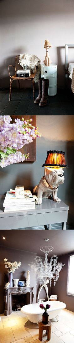 i have a bulldog just like that!  but smaller and blue, i wonder if i could turn him into a lamp!