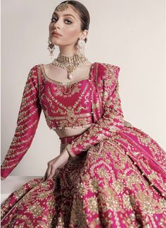 Latest Bridal Dresses, Wedding Dresses For Girls, Indian Wedding Outfits, Bridal Outfits, Indian Outfits, Designer Bridal Lehenga, Indian Bridal Lehenga, Pakistani Bridal Dresses, Indian Dresses