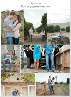 FARM INSPIRATION | ALLY + MARK FARM ENGAGEMENT SESSION - Feature on I Love Farm Weddings