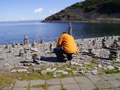 Steinhaufen am Nordkap