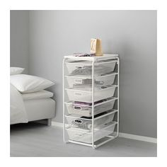 IKEA ALGOT Frame/6 mesh baskets/top shelf White 41x60x102 cm The parts in the ALGOT series can be combined in many different ways and so can easily be...