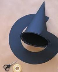 Como fazer um chapéu de bruxa - 7 passos (com imagens)
