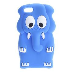 Cute 3D Animal Elephant iPhone 5 Silicone Case Cover -- Light Blue