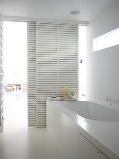 White sliding doors - bathroom