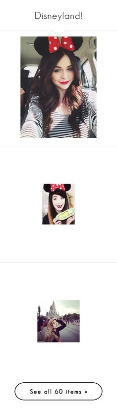 """""""Disneyland!"""" by miicoutinho ❤ liked on Polyvore featuring accessories, hair accessories, acacia, acacia brinley, hair, people, zoella, zoe sugg, youtubers and zoe"""