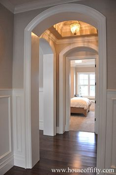 Isabella & Max Rooms: Street of Dreams Portland Style - House 6......hallway, mater on one side and bath on other side.
