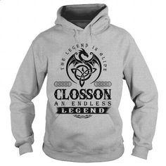 CLOSSON - #gift for her #couple gift. GET YOURS => https://www.sunfrog.com/Names/CLOSSON-106208558-Sports-Grey-Hoodie.html?60505