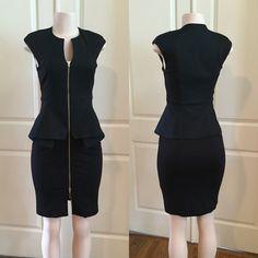 Ted baker Dress Black Ted Baker zip front peplum dress Ted Baker Dresses Midi