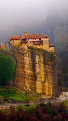 Cliff Top, Meteora, Greece  photo via besttravelphotos