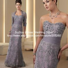 Free Shipping Luxury Long Sleeve Lace Mother Of the Bride Dresses with jacket purple MD312-in Mother of the Bride Dresses from Apparel & Accessories on Aliexpress.com