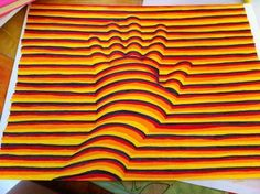 Cycle 2 The hand in Cycle Painting, Maura, Op Art, Animal Print Rug, Illusions, 3 D, Cool Pictures, About Me Blog, Cycling Memes