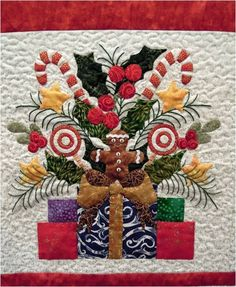 "Quilt Inspiration: 'Tis the Season: ""Baltimore Christmas"" by Cindy Greco. Design by Pearl Pereira"