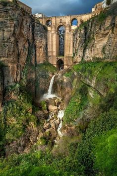 The Puente Nuevo (New Bridge) in Ronda, Spain - located about 100 kilometres west of the city of Málaga