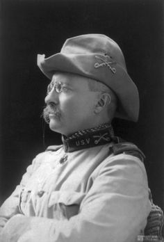 "B.J. Falk, Col. Theodore Roosevelt, 1898. ""A man who is good enough to shed his blood for the country is good enough to be given a square deal afterwards."" . . .""A vote is like a rifle; its usefulness depends upon the character of the user."""