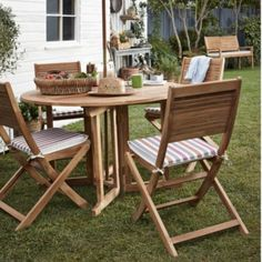 Garden Furniture Teak roscana teak wooden 4 seater dining set: image 1 | garden
