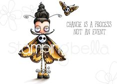 Stamping Bella Cling Stamp ODDBALL MOTH eb727 at Simon Says STAMP! Halloween 6, Halloween Drawings, Halloween Projects, Rubber Stamp Company, Quirky Girl, Bullet Journal Banner, Vampire Girls, Paint Cards, Little Pets