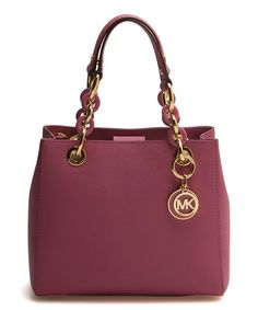Another great find on #zulily! Michael Kors Tulip Cynthia Leather Mini Satchel by Michael Kors #zulilyfinds
