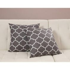 Dorel Home Products Accent Pillows, Set of 2, Gray Trellis - Walmart.com $34