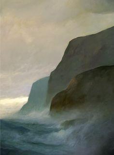 """Vespertine , Oil On Board 36"""" x 48"""", painting by Reg Stark"""