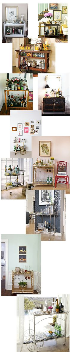 Diy Home decor ideas on a budget. : Bar Carts are Fabulous