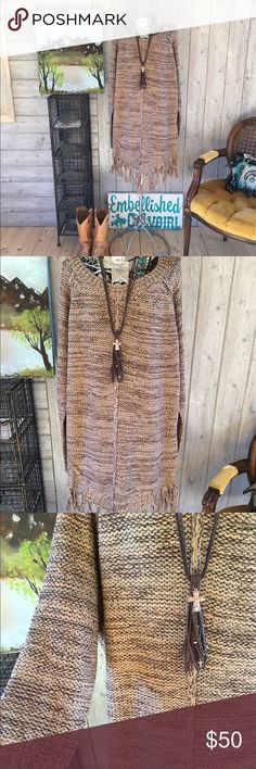 Selling this 💕 Sweater dress with fringe woman & plus size on Poshmark! My username is: countryliving37. #shopmycloset #poshmark #fashion #shopping #style #forsale #Sweaters