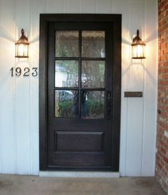 Entry Door With Sidelights, Entry Doors, Wood Doors, Black Front Doors, Front Door Colors, Country Front Door, Glass Front Door, Flush Mount Lighting, Cool House Designs