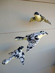 Spool bird ornament