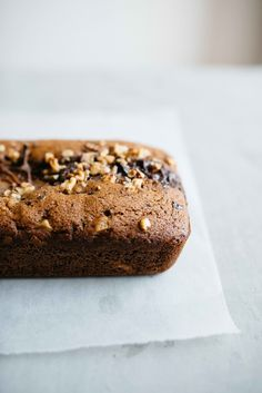 Olive Oil + Dark Chocolate Chunk Loaf with Pears | Dolly and Oatmeal