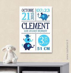 Cadeau de naissance bébé, stats de naissance, décoration chambre enfant garçon fille - Fichier Imprimable - n°61 : Chambre d'enfant, de bébé par cashemir