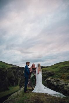 Boldly Icelandic Elopement In The Fjaðrárgljúfur Canyon
