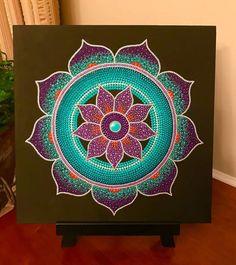 Mandala Canvas, Mandala Dots, Flower Mandala, Mandala Doodle, Mandala Design, Dot Art Painting, Mandala Painting, Mandela Art, Mandala Painted Rocks