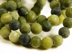 15 Inch Strand - 8mm Frosted Green Taiwan Jade Beads - Matte Gemstone Beads  Approx: 46 Beads per Strand  Hole: 1mm  Ships within 1-3 business days via USPS first class mail.