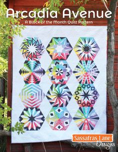 Arcadia Avenue: A block of month quilt pattern by Sassafras Lane Designs