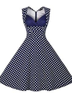 Miusol Women's Cut Out Vintage Casual Polka Dot 1950'S Retro Dress Blue Small Miusol http://smile.amazon.com/dp/B00XXPAMIO/ref=cm_sw_r_pi_dp_WBOowb1WVD1XP