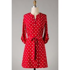 Red Polka Dot Dress, $23.00 **CLEARANCE ITEM** save $27, last of a fabulous dress, Large only, www.FirstandTenGamedayDresses.com