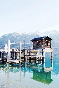 Boat House in New Zealand by Kara Rosenlund // via The Design Files Wanderlust Travel, Tasmania, Oh The Places You'll Go, Places To Travel, Kara Rosenlund, New Zealand South Island, The Design Files, New Zealand Travel, Photos