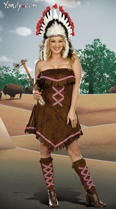 Plus Size Tippin' Teepees Costume