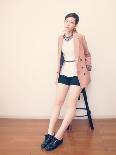 2013/04/29 pink jacket - xoxo HiLAMEE