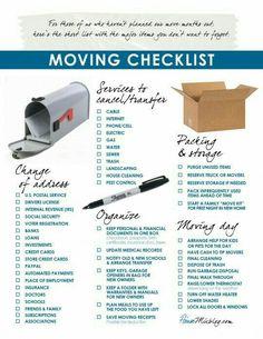 Change Of Address Checklist  Moving    Change