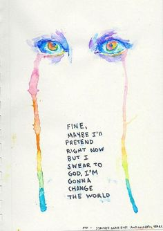 Stained Glass Eyes And Colorful Tears//Pierce The Veil