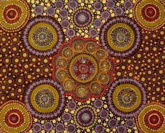 Today we've received some new works from SANTA TERESA , a small community of 500 people south east of Alice Springs. Aboriginal Art Australian, Indigenous Australian Art, Indigenous Art, Painting Lessons, Art Lessons, Dot Art Painting, Abstract Art, Aboriginal Painting, Australia Tattoo